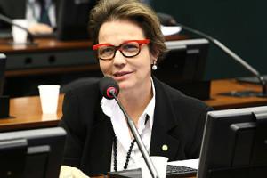 Deputada federal Tereza Cristina (PSB/MS) recebeu doações do Banco BTG Pactual